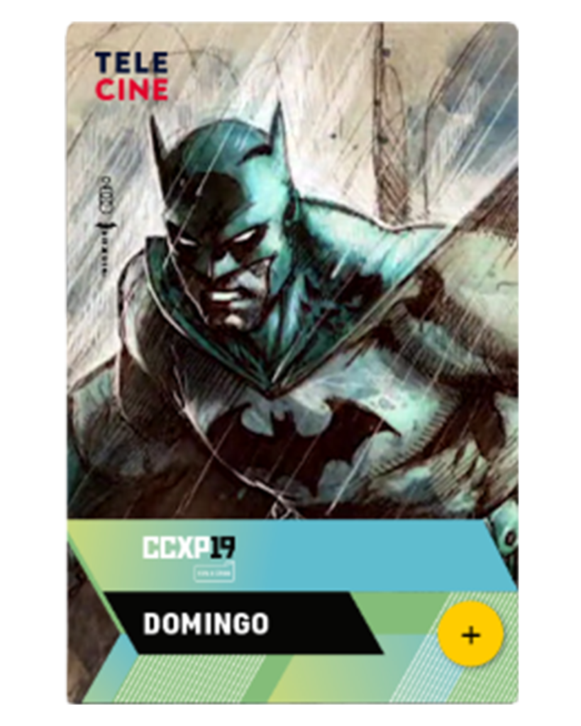 Cartaz Domingo - CCXP 2019 - Batman A saga Silêncio