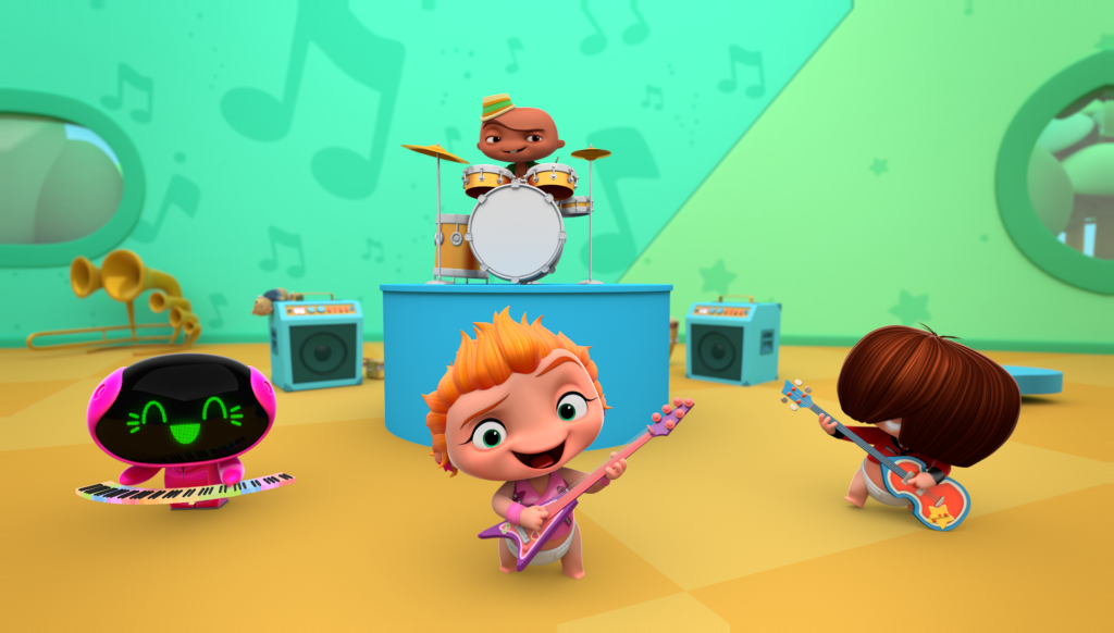 Mini Beat Power Rockers - desenhos animados do Discovery Kids